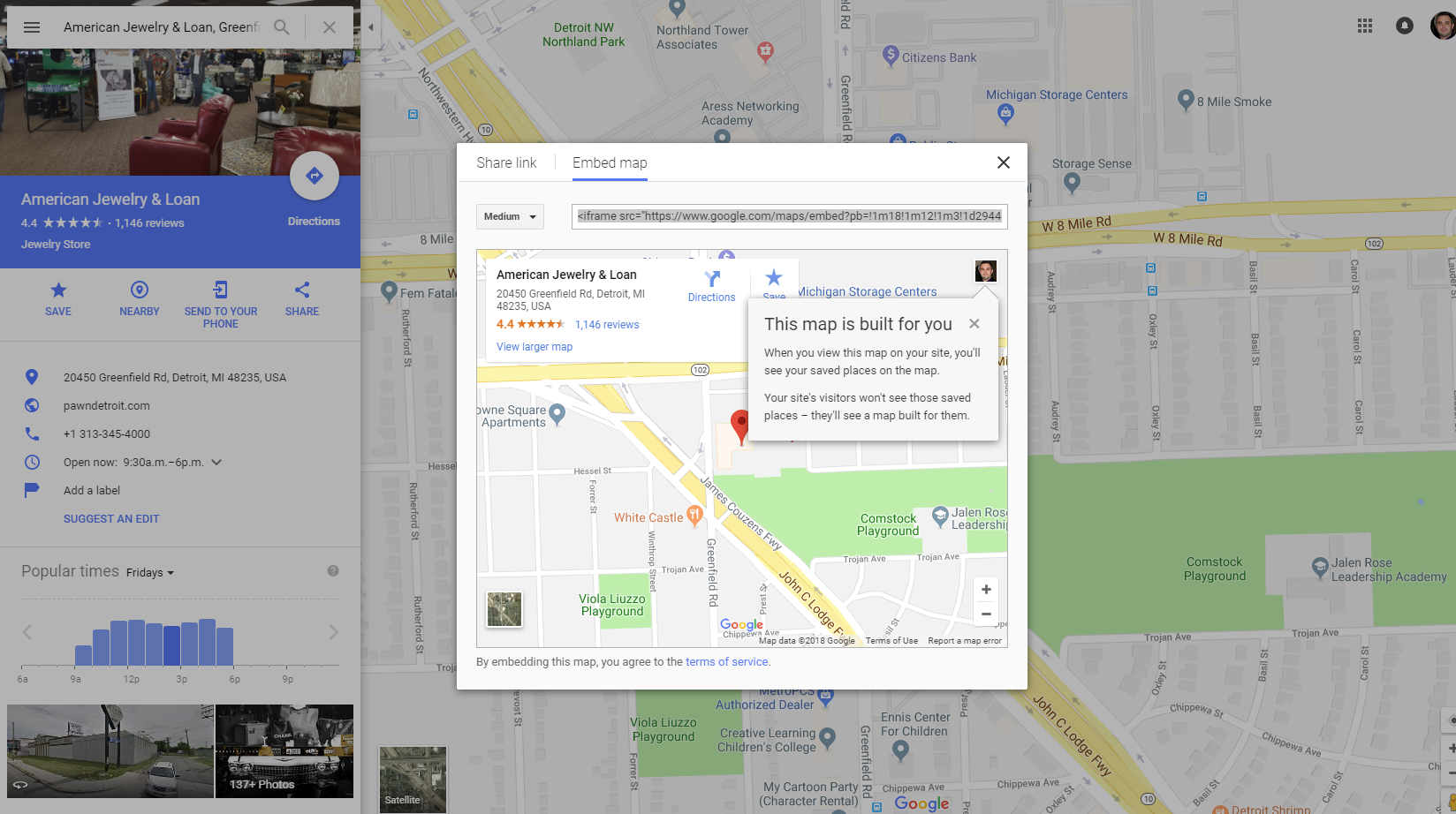 how to rank your pawn shop in google maps